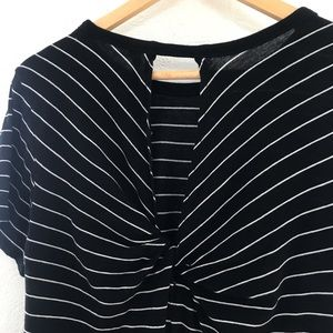 bp Tops - BP Black & White Striped Top w/ Knotted Back - S